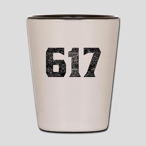 617 Boston Area Code Shot Glass
