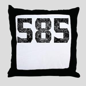 585 Rochester Area Code Throw Pillow