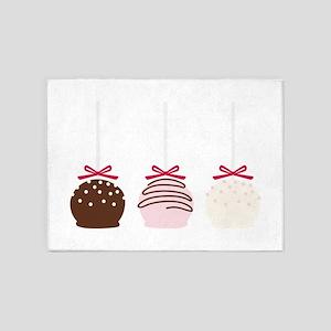 Valentine Cake Pops 5'x7'Area Rug