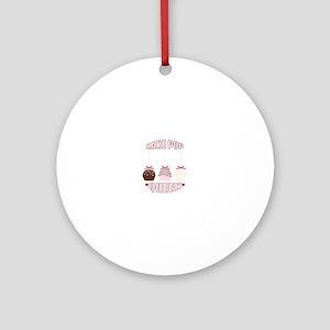 Cake Pop Queen Round Ornament