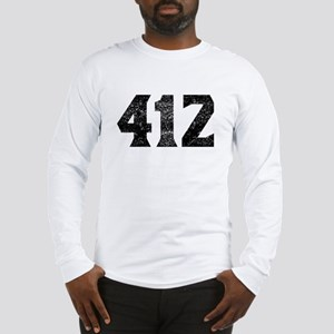 412 Pittsburgh Area Code Long Sleeve T-Shirt