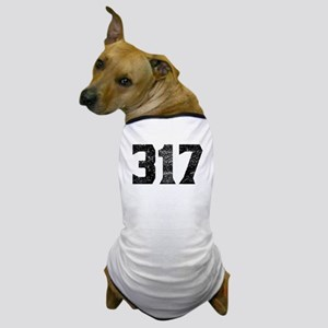 317 Indianapolis Area Code Dog T-Shirt