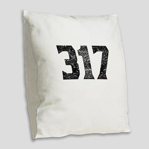 317 Indianapolis Area Code Burlap Throw Pillow