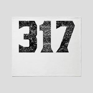 317 Indianapolis Area Code Throw Blanket