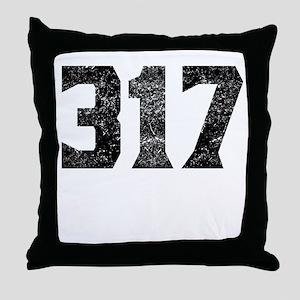 317 Indianapolis Area Code Throw Pillow