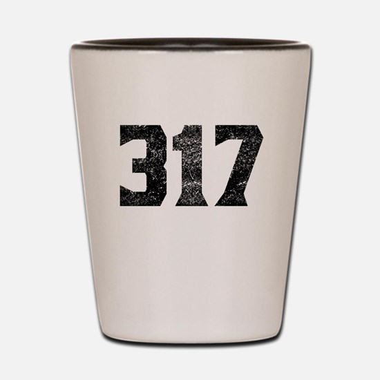 317 Indianapolis Area Code Shot Glass
