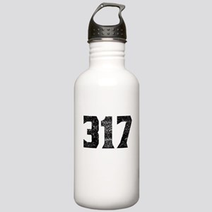 317 Indianapolis Area Code Water Bottle