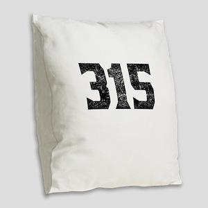 315 Syracuse Area Code Burlap Throw Pillow