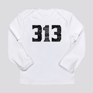 313 Detroit Area Code Long Sleeve T-Shirt