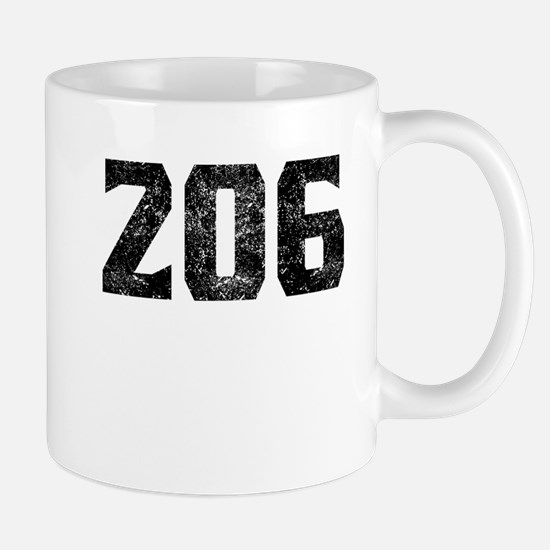206 Seattle Area Code Mugs