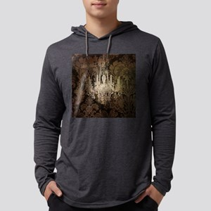 steampunk damask vintage chand Long Sleeve T-Shirt
