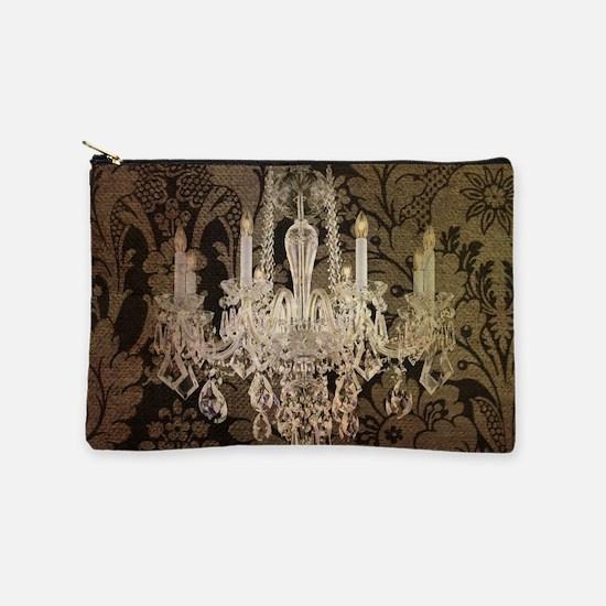 steampunk damask Paris chandelier Makeup Bag