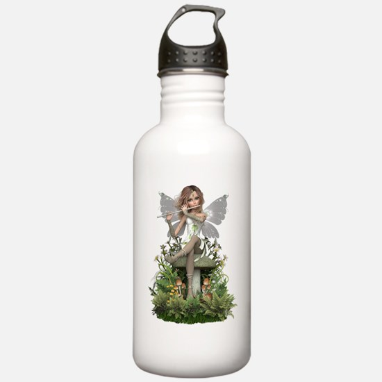 White ~ Flute Fairy Water Bottle