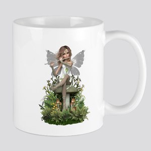 White ~ Flute Fairy Mugs