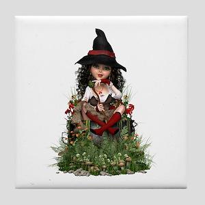 Little Witch ~ Hubble Bubble Tile Coaster