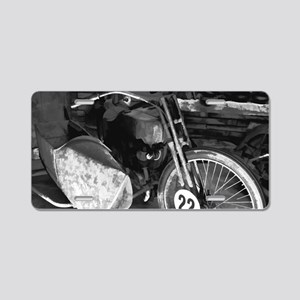 Abstract Sidecar Aluminum License Plate