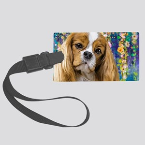 Cavalier King Charles Spaniel Painting Luggage Tag