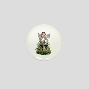 White ~ Flute Fairy Mini Button