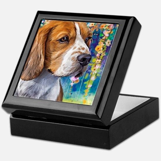 Beagle Painting Keepsake Box