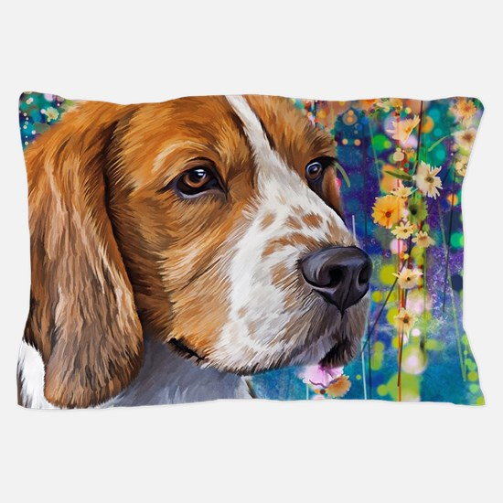 Beagle Painting Pillow Case