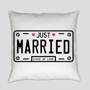 Just Married Everyday Pillow