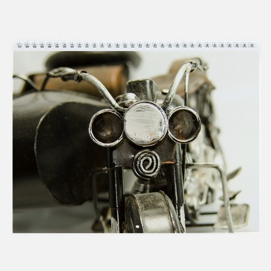 Toy Cars And Motorcycles Wall Calendar