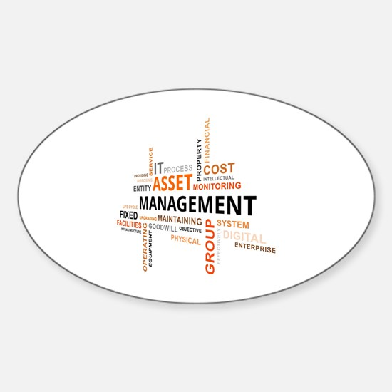Unique Property management Sticker (Oval)