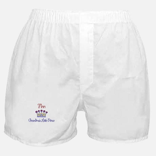 Finn - Grandma's Little Princ Boxer Shorts