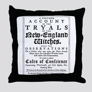 Old Salem Witch Trials Throw Pillow