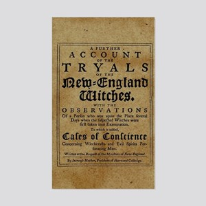 Old Salem Witch Trials Sticker
