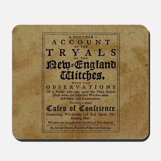 Old Salem Witch Trials Mousepad