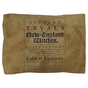 Old Salem Witch Trials Pillow Sham