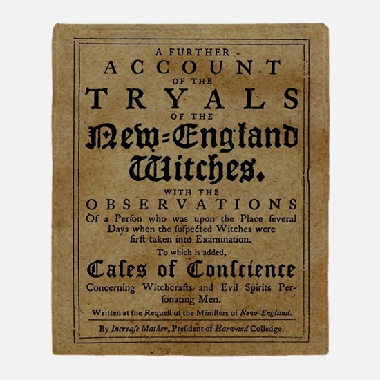 Old Salem Witch Trials Throw Blanket
