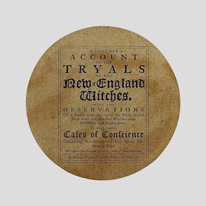 Old Salem Witch Trials Button