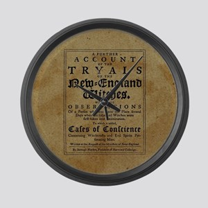 Old Salem Witch Trials Large Wall Clock