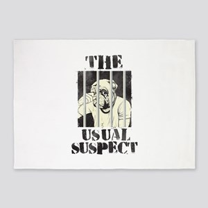 The Usual Suspect 5'x7'Area Rug