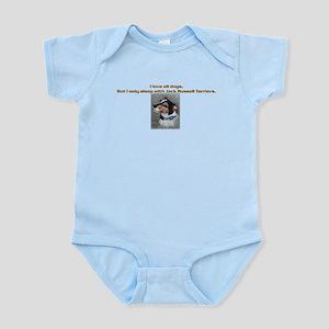 Sleeps with Jack Russells Infant Bodysuit