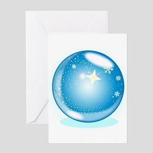 Christmas Star Globe Greeting Cards