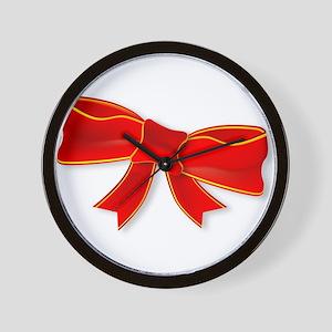Christmas Ribbon Wall Clock