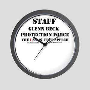 Glenn Beck Protection Force Wall Clock