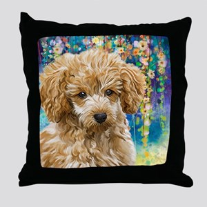 Poodle Painting Throw Pillow