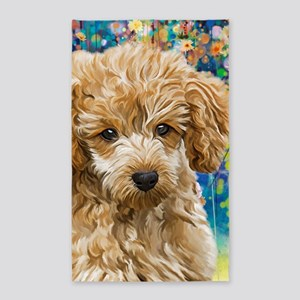Poodle Painting Area Rug