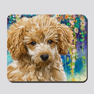 Poodle Painting Mousepad