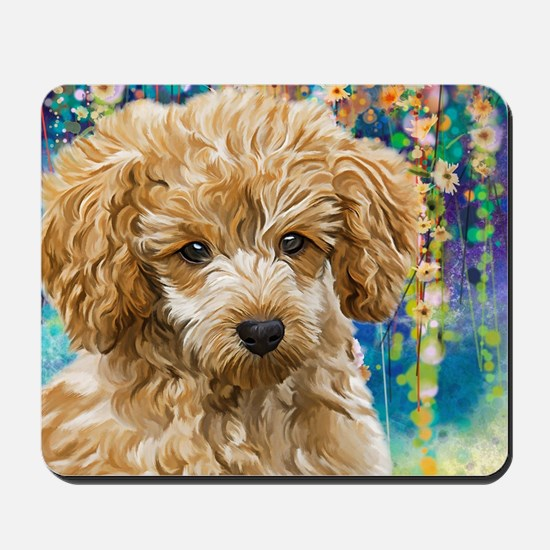 Poodle Painting Mousepad