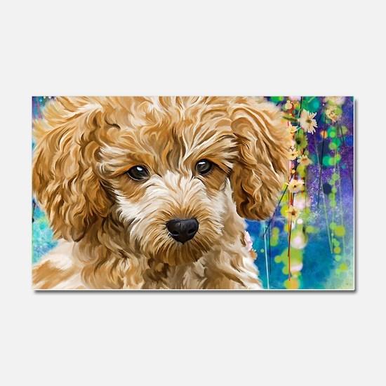 Poodle Painting Car Magnet 20 x 12