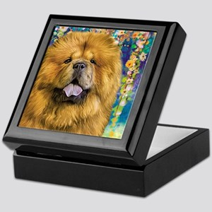 Chow Chow Painting Keepsake Box