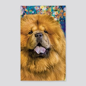 Chow Chow Painting Area Rug