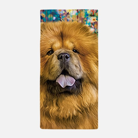 Chow Chow Painting Beach Towel