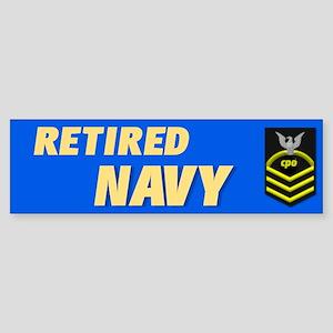 Retired Navy CPO Bumper Sticker