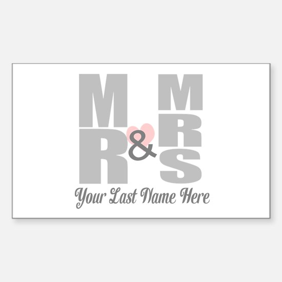 Mr and Mrs Love Decal